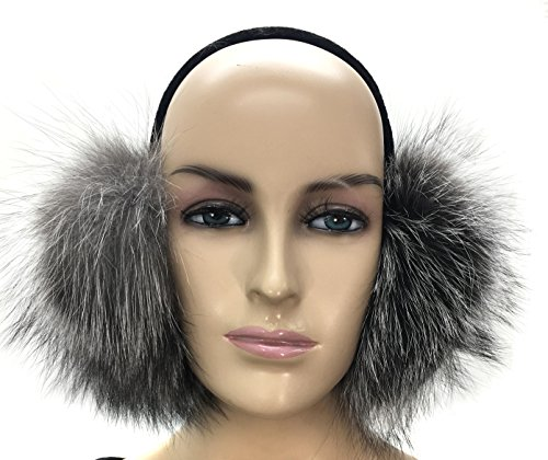 Fur Silver (Real Fox Fur Earmuff (SILVER))
