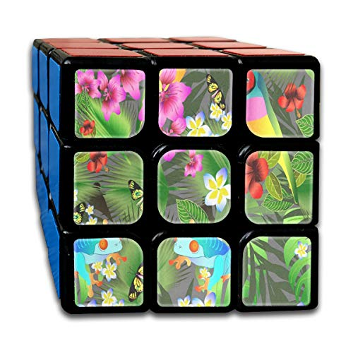 - Rubiks Cube Tropical Flowers And Leaves Fabulous Speed Cube 3x3 Smooth Magic Cube Puzzle Game Black