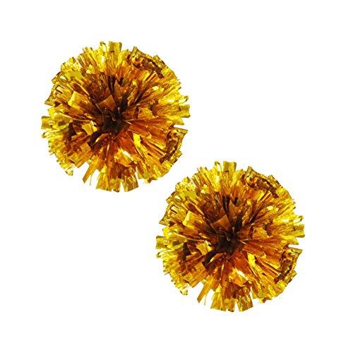 plastique Poms 100g Gold Anneau Pom 2 Lot de Cheerleading Metallic fq7aZwAn