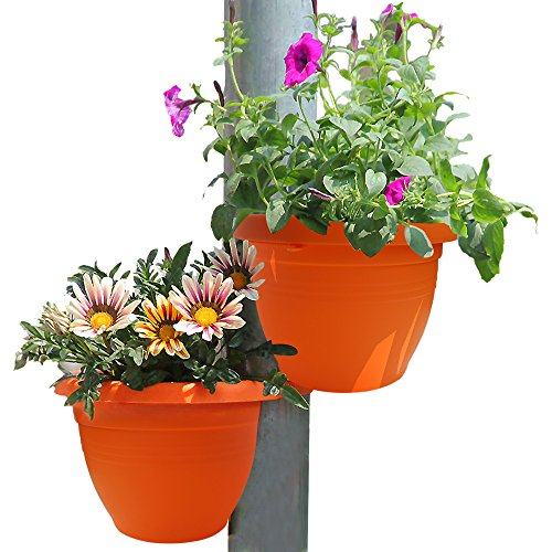 GeLive Downspout Hugger Pot Hanging Planter Attaches To P...