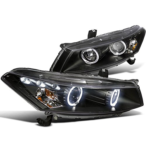 Spec-D Tuning 2LHP-ACD082JM-TM Honda Accord Dual Halo Led Black 2Dr Coupe Projector Headlights - Honda Accord Coupe Manual