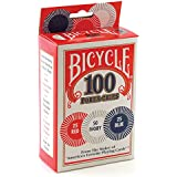 Bicycle Poker Chips - 100 count with 3 colors