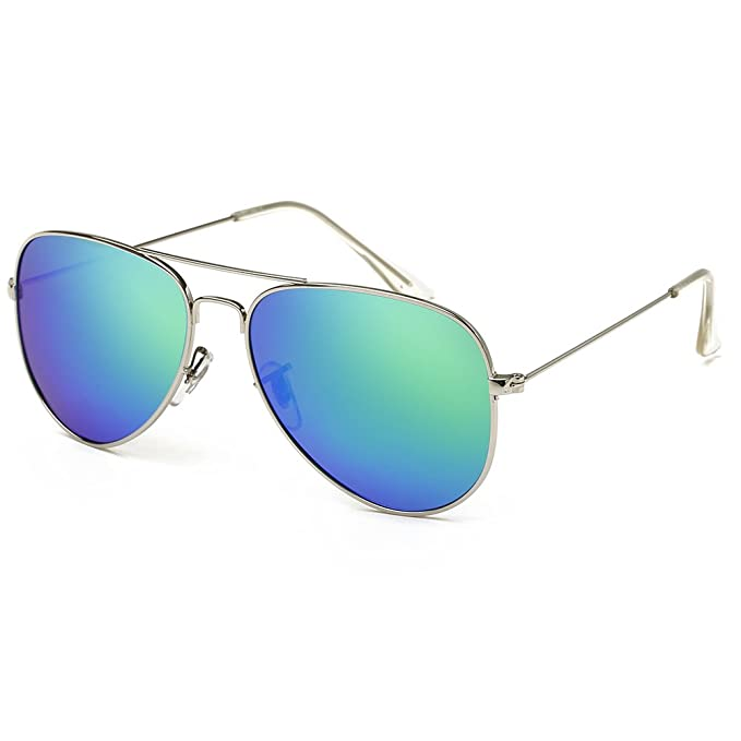 Damenmode Sonnenbrille Metallrahmen Spiegel-Linse 49mm jDqcYqz
