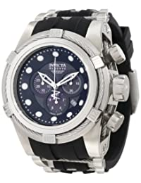 Invicta Men's 0826 Bolt Reserve Chronograph Black Mother-Of-Pearl Dial Black Polyurethane Watch