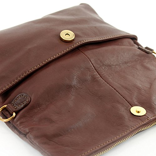 bag T54 shoulder Brown bag Clutch bag leather croco Wild underarm small Italian bag shoulder leather nappa leather qxgpYY