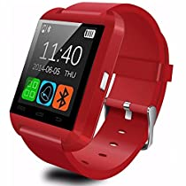 Aipker Android Smartwatch with Bluetooth Compatible For Samsung Huawei Sony LG HTC Lenovo And Other Android Smartphones (Red)