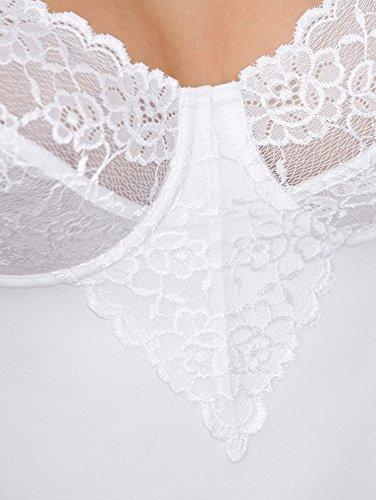 Damen Bügel-BH-Hemd mit Spitzencups Elastisch 85 by Miss Mary