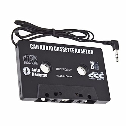 TEAMAR Travel Cassette Adapter for Cars – Listen to iPods, Smartphones, MP3 Players or a Walkman in a Standard Vehicle Cassette Player – Vintage/Retro Music Converter Travel Adapter Ipod Mp3