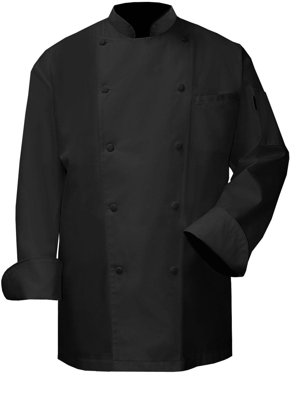 Newchef Fashion VIP Black Chef Coat 2XL Black by Newchef Fashion
