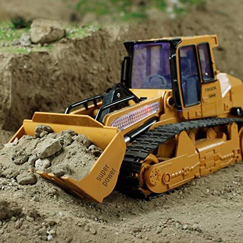 serryNICE (US Stock 1:12 RC Excavator Shovel Remote Control Construction Bulldozer Truck Toy Light (Yellow)
