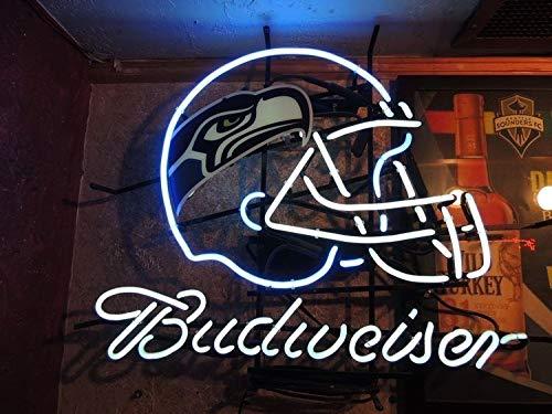 "QUEEN SENSE 20""x16"" Budweisers Seattle Seahawk Neon Sign (VariousSizes) Beer Bar Pub Man Cave Handmade Glass Lamp Light DB454"