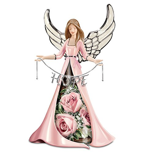 The Bradford Exchange Hope Blossoms Breast Cancer Support Angel Floral Centerpiece