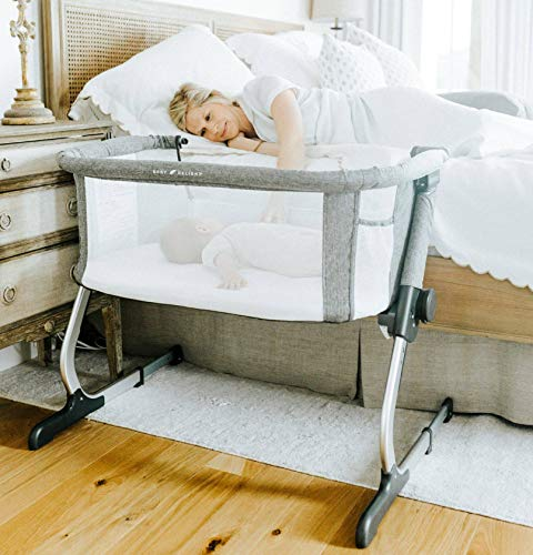 Baby Delight Beside Me Dreamer Bassinet & Bedside Sleeper, Charcoal Tweed