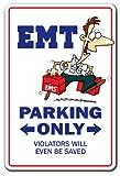 Emt Sign | Indoor/Outdoor | Funny Home Décor for Garages, Living Rooms, Bedroom, Offices | SignMission Paramedic Hospital Injury Health Job Gift Firefighter Ambulance Er Cop Sign Decoration