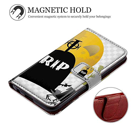 Wallet Case for Apple iPhone Xr (2018) 6.1inch Halloween Rip Candy -