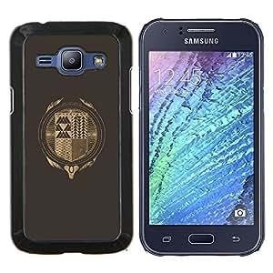 LECELL--Funda protectora / Cubierta / Piel For Samsung Galaxy J1 J100 -- Hipster Resumen --