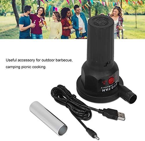Dibiao Ventilateur d'air de Barbecue Ventilateur Portatif Léger Rechargeable de Ventilateur de Barbecue de 5V pour La Cuisine Extérieure