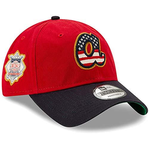(New Era 2019 MLB Atlanta Braves July 4th Flag Logo Baseball Cap Hat 9Twenty 920)