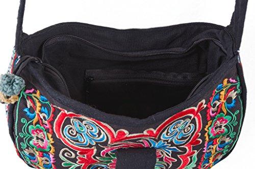 Hmong Bird Dark Cross Trade Tribal Over Changnoi Purse Embroidered Fair Bohemian Bag Thai qwg5dEEy