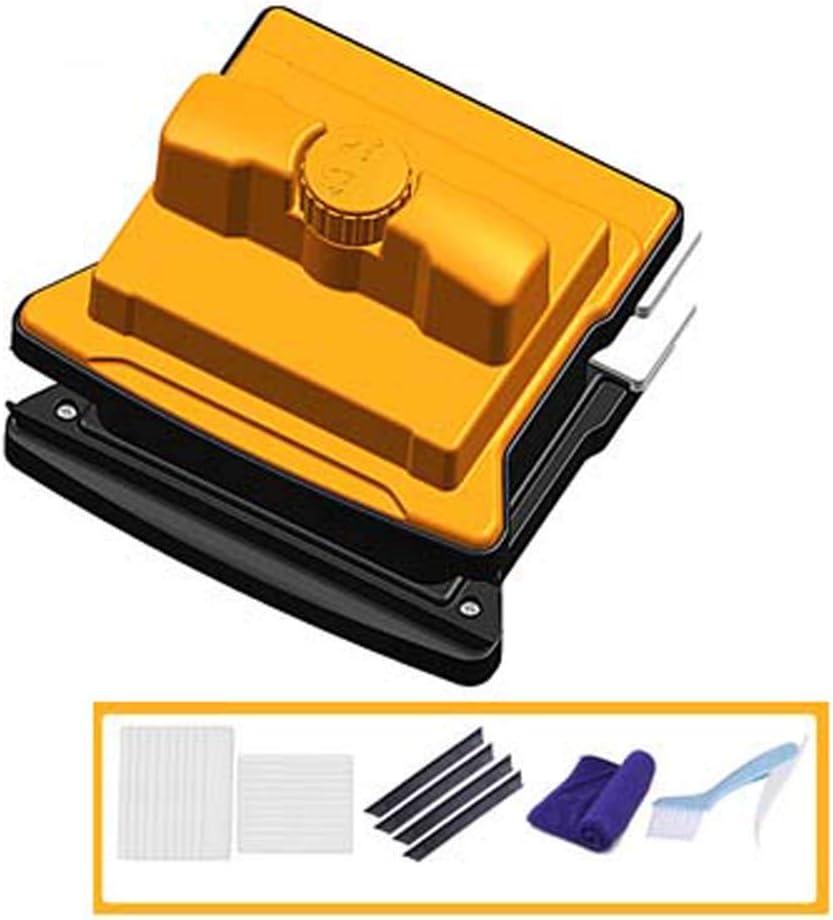 HWTZ Limpiador Magnético para Ventanas De Doble Cara, Cepillo De Limpieza para Superficies De Vidrio De Ambos Lados, con Mango Ergonómico para Ventanas De Doble Acristalamiento 6-35mm/7-40mm: Amazon.es: Hogar