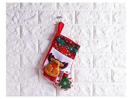 Xinjiener Calcetines de Navidad Bolsa de Dulces Bolsa de Regalos Decoración del árbol de Navidad (
