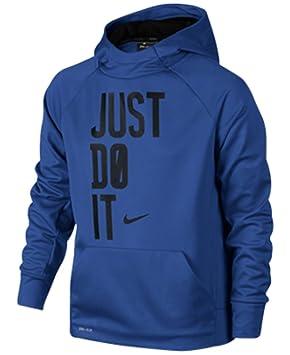Nike niños jóvenes Therma Just Do It Training - Sudadera con capucha para mujer - Azul - Medium: Amazon.es: Ropa y accesorios