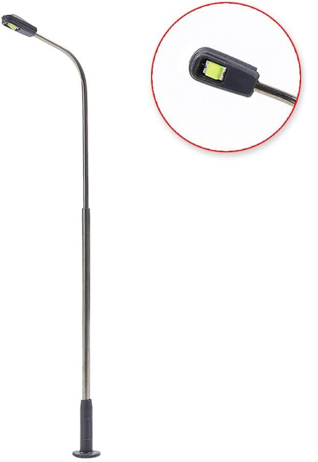 10 Stk Peitschenlampe und Straßenlaterne H0 als Modell Zubehör Spurbreite H0 16V
