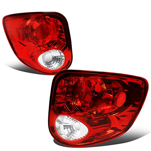 For 1997-2004 Ford F150 Heritage Flareside Pair Red/Clear Lens Tail Light Brake/Reverse Lamps