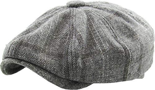 Men's Applejack Ascot Gatsby Newsboy Ivy Cabbie Hat Casual & Dress Style (Small/Medium, (326) Light Gray) -