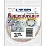 Beadalon Memory Wire Bracelet Bright, 1-Ounce