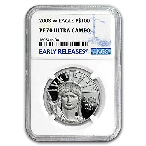 2008 W 1 oz Proof Platinum American Eagle PF-70 NGC (ER) 1 OZ PF70 NGC