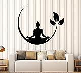 Vinyl Wall Decal Yoga Meditation Room Buddhist Zen Stickers (ig4132) Matte Black