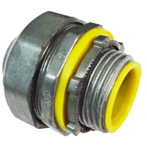(Morris 15261 Insulated Throat Liquid Tight Connector, Straight, Zinc Die Cast, 4