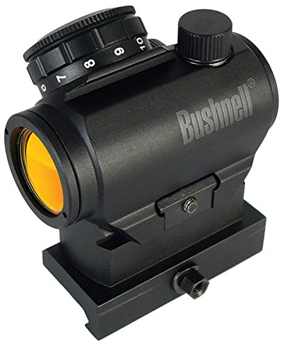Bushnell AR Optics TRS-25 Hirise 1x 25mm Red Dot Riflescope with Riser Block, Matte - Mounting Integral Rail