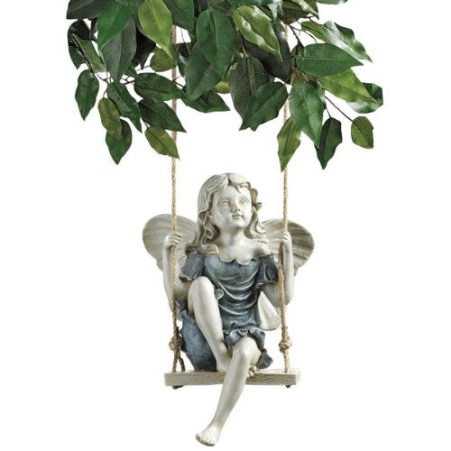Design Toscano Summertime Fairy on a Swing Statue