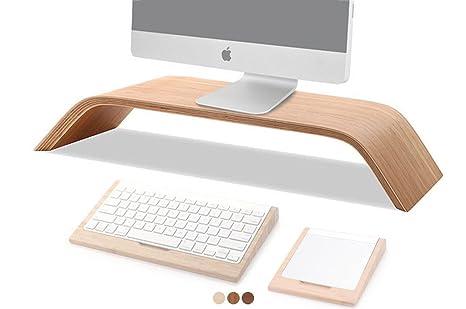 COCOPARK® Universal Desktop Monitor Intensificar madera del muelle del soporte del sostenedor del soporte para