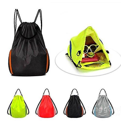 Mark8shop uso esterno, ideale per campeggio ed escursionismo, zaino per tempo libero da basket-Zaino da viaggio, borsa con chiusura a cordoncino