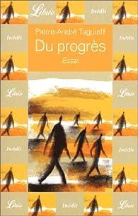 Du progrès par Pierre-André Taguieff