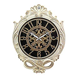 PQPQPQ Wall Clock of European Style - Price of a Stay in The Quiet, The Clock of The Table Wall Clock Retro Art Alarm Clock Quartz (Edition: a)