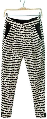 Neu Mode Damens Elegant Cute Little Cat Print Casual Harem Pants Trousers