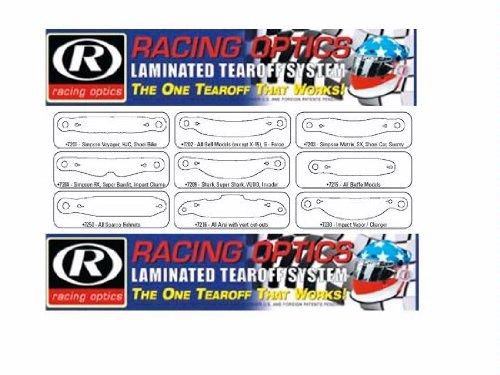 Clear for Impact Vapor//Charger 7230C Racing Optics Laminated Tearoffs SpeedStack 7