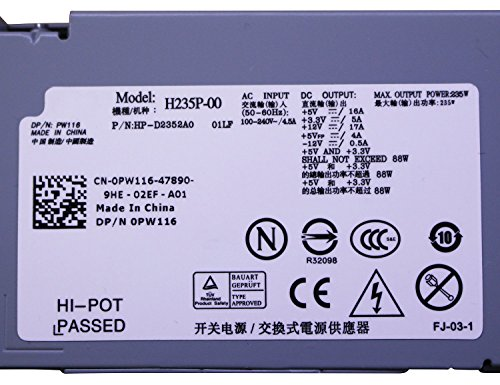 235W Watt PW116 H235P-00 Desktop Power Supply Unit PSU for Dell Optiplex 760 780 960 980 990 Small Form Factor SFF Systems by IMSurQltyPrise (Image #2)
