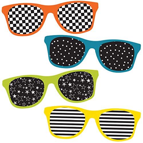 Carson Dellosa - School Pop Sunglasses Mini Colorful Cut-Outs, Classroom Décor, 33 ()