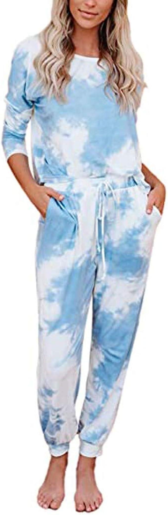 Ladies Women/'s Long Sleeve Tracksuit Lounge-wear Jogging Sweatshirt Pants Set