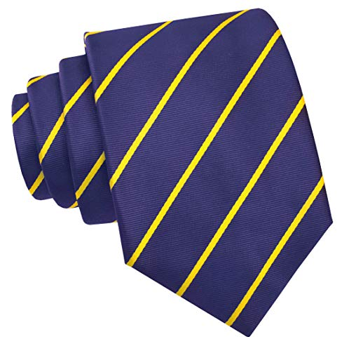 Scott Allan Collection Pencil Stripe Ties for Men - Woven Necktie - Navy Blue w/Yellow ()