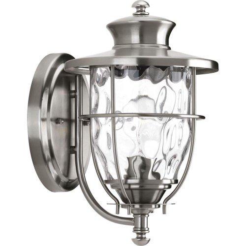 Progress Lighting Beacon Collection Wall-Mount 1-Light Outdoor Stainless Steel Lantern