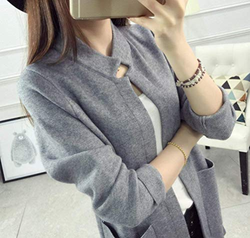 Primaverile Comodo 3 4 Outwear Aperto Sciolto Cappotto Rot Giacca Pullover Di Moda Alta A Abbigliamento Tasche Casual Forcella Maglia Autunno Qualità Donna Manica Con Lunghi P1I1T8q