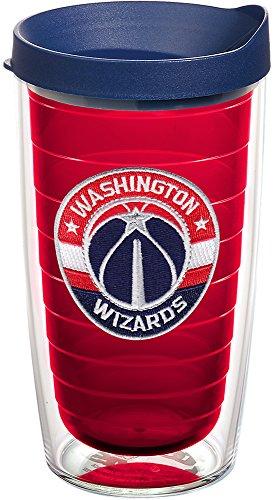 Tervis 1242322 NBA Washington Wizards Primary Logo vaso aislado con emblema y tapa azul marino, 16 oz, rojo