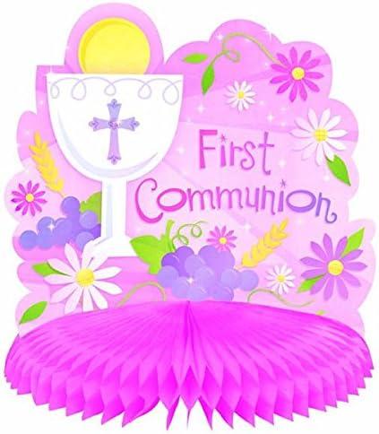 First Holy Communion Religious celebration party wood guest table centerpiece decoration Holy sacrament Mi Primera Comunion Party INDIVIDUAL