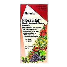 Flora Floradix Floravital Iron + Herbs Liquid Extract Formula 17 fl.oz